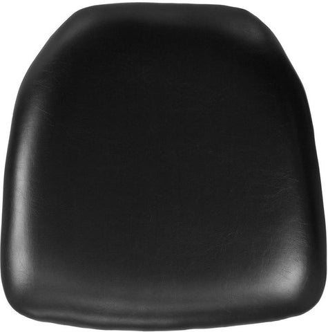 Flash Furniture BH-BK-HARD-VYL-GG Hard Black Vinyl Chiavari Chair Cushion - Peazz Furniture