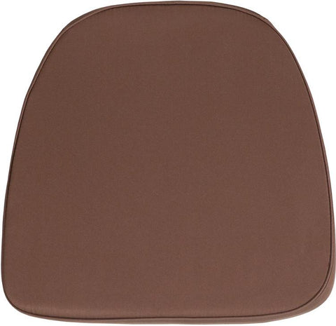 Flash Furniture BH-BRN-GG Soft Brown Fabric Chiavari Chair Cushion - Peazz Furniture