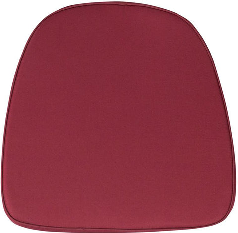 Flash Furniture BH-BURG-GG Soft Burgundy Fabric Chiavari Chair Cushion - Peazz Furniture