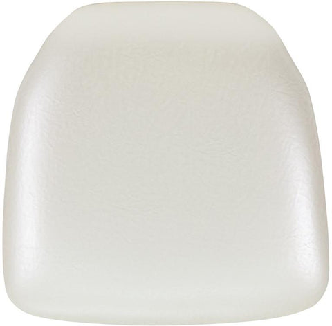 Flash Furniture BH-IVORY-HARD-VYL-GG Hard Ivory Vinyl Chiavari Chair Cushion - Peazz Furniture