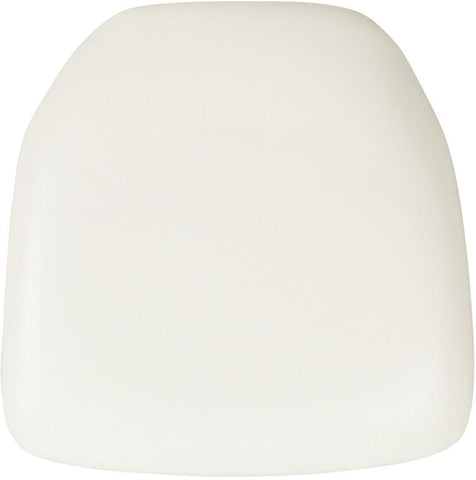 Flash Furniture BH-WH-HARD-VYL-GG Hard White Vinyl Chiavari Chair Cushion - Peazz Furniture