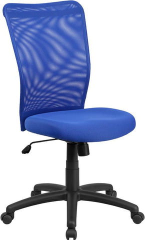 Flash Furniture CY54A-BL-GG High Back Blue Mesh Executive Ergonomic Swivel Office Chair - Peazz Furniture
