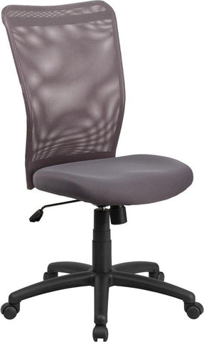 Flash Furniture CY54A-GY-GG High Back Gray Mesh Executive Ergonomic Swivel Office Chair - Peazz Furniture