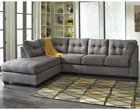 Flash Furniture FBC-2349LFSEC-CRC-GG Benchcraft Maier Sectional with Left Side Facing Chaise in Charcoal Microfiber - Peazz Furniture