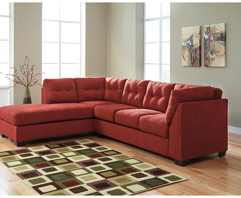 Flash Furniture FBC-2349LFSEC-SEN-GG Benchcraft Maier Sectional with Left Side Facing Chaise in Sienna Microfiber - Peazz Furniture