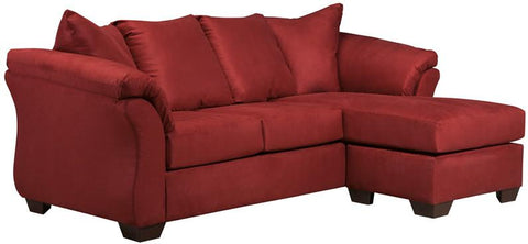 Flash Furniture FSD-1109SOFCH-RED-GG Signature Design by Ashley Darcy Sofa Chaise in Salsa Microfiber - Peazz Furniture