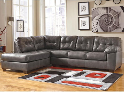 Flash Furniture FSD-2399LFSEC-GRY-GG Signature Design by Ashley Alliston Sectional with Left Side Facing Chaise in Gray DuraBlend - Peazz Furniture - 1