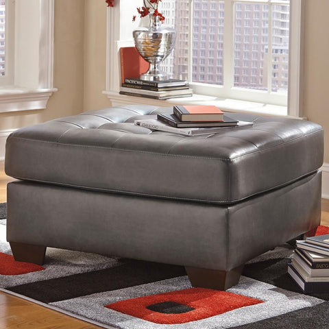 Flash Furniture FSD-2399OTT-GRY-GG Signature Design by Ashley Alliston Oversized Accent Ottoman in Gray DuraBlend - Peazz Furniture