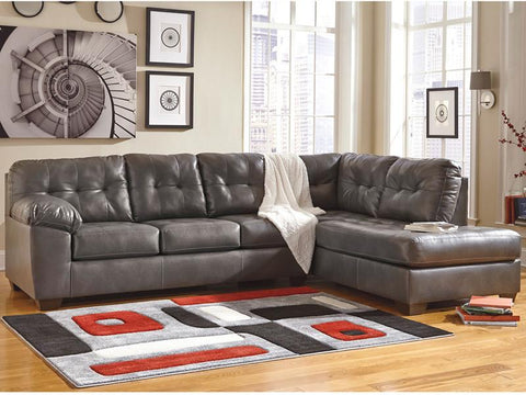 Flash Furniture FSD-2399RFSEC-GRY-GG Signature Design by Ashley Alliston Sectional with Right Side Facing Chaise in Gray DuraBlend - Peazz Furniture - 1
