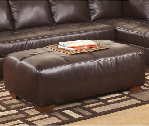Flash Furniture FSD-2749OTT-MAH-GG Signature Design by Ashley Fairplay Oversized Accent Ottoman in Mahogany DuraBlend - Peazz Furniture