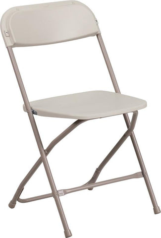 Flash Furniture LE-L-3-BEIGE-GG HERCULES Series 800 lb. Capacity Premium Beige Plastic Folding Chair - Peazz Furniture