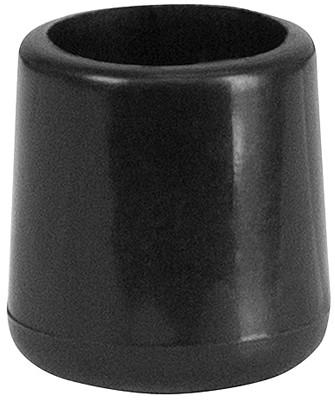 Flash Furniture LE-L-3-BK-CAPS-GG Black Replacement Foot Cap for Plastic Folding Chairs - Peazz Furniture