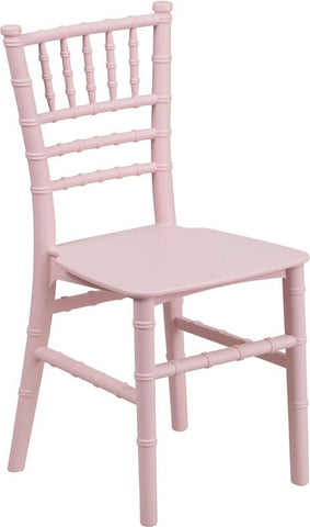 Flash Furniture LE-L-7K-PK-GG Kids Pink Resin Chiavari Chair - Peazz Furniture