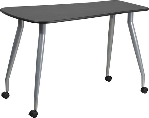 Flash Furniture NAN-WK-010-GG Mobile Black Computer Desk - Peazz Furniture