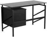 Flash Furniture NAN-WK-036-GG Glass Desk with Two Drawer Pedestal - Peazz Furniture - 2