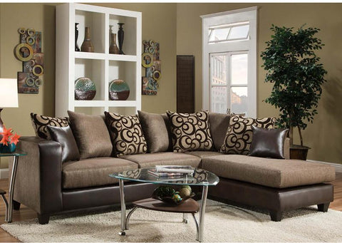 Flash Furniture RS-4124-01SEC-GG Riverstone Object Espresso Chenille Sectional - Peazz Furniture - 1