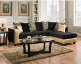 Flash Furniture RS-4124-07SEC-GG Riverstone Implosion Black Velvet Sectional - Peazz Furniture - 1