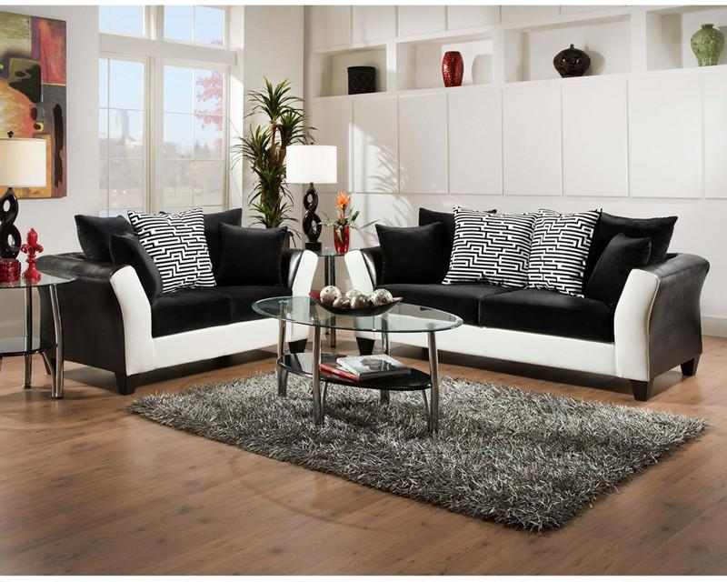 Implosion Black Velvet Living Room Set 17949 Product Photo