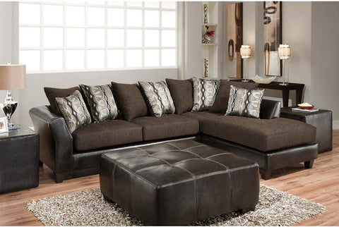 Flash Furniture RS-4174-01SEC-GG Riverstone Rip Sable Chenille Sectional - Peazz Furniture - 1