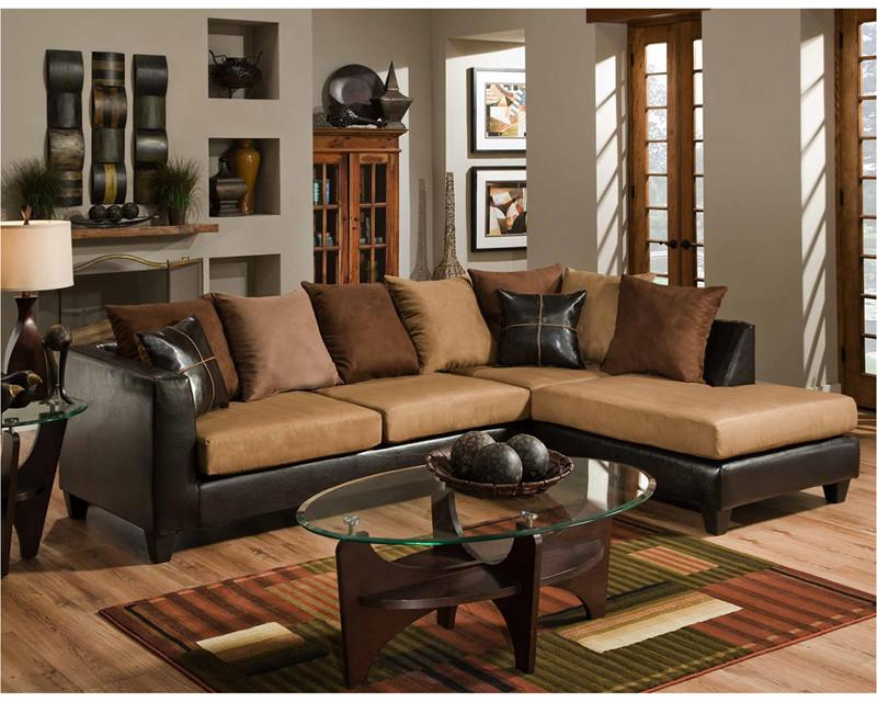 Sierra Chocolate Microfiber Sectional 19339 Product Photo