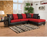 Flash Furniture RS-4184-04SEC-GG Riverstone Victory Lane Cardinal Microfiber Sectional - Peazz Furniture - 1