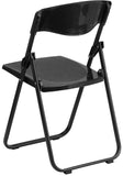 Flash Furniture RUT-I-BLACK-GG HERCULES Series 880 lb. Capacity Heavy Duty Black Plastic Folding Chair with Built-in Ganging Brackets - Peazz Furniture - 3