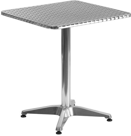Flash Furniture TLH-053-1-GG 23.5'' Square Aluminum Indoor-Outdoor Table with Base - Peazz Furniture