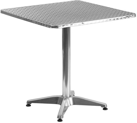 Flash Furniture TLH-053-2-GG 27.5'' Square Aluminum Indoor-Outdoor Table with Base - Peazz Furniture