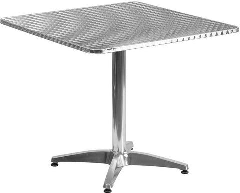 Flash Furniture TLH-053-3-GG 31.5'' Square Aluminum Indoor-Outdoor Table with Base - Peazz Furniture