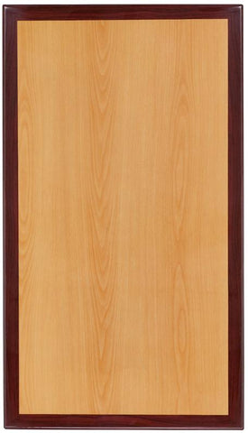 Flash Furniture TP-2TONE-2442-GG 24'' x 42'' Rectangular Two-Tone Resin Cherry and Mahogany Table Top - Peazz Furniture
