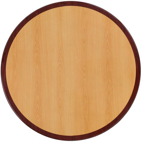 Flash Furniture TP-2TONE-48RD-GG 48'' Round Two-Tone Resin Cherry and Mahogany Table Top - Peazz Furniture