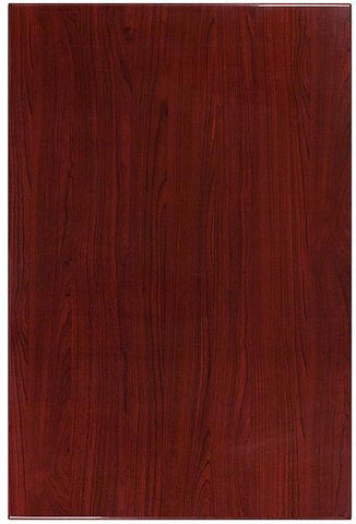 Flash Furniture TP-MAH-3045-GG 30'' x 45'' Rectangular Resin Mahogany Table Top - Peazz Furniture