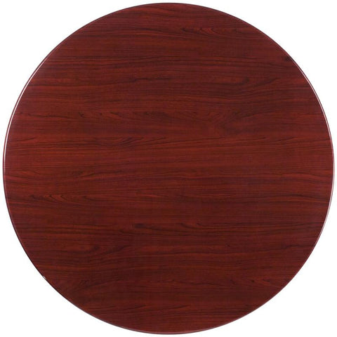 Flash Furniture TP-MAH-48RD-GG 48'' Round Resin Mahogany Table Top - Peazz Furniture