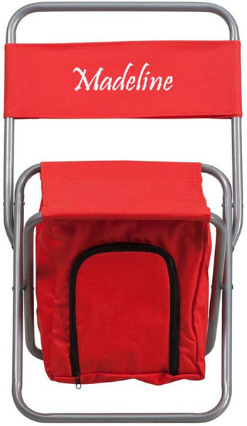 Fabulous Flash Furniture Ty1262 Red Txtemb Gg Personalized Kids Folding Camping Chair With Insulated Storage In Red Creativecarmelina Interior Chair Design Creativecarmelinacom