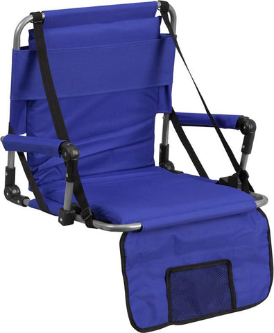 Flash Furniture TY2710-BL-GG Folding Stadium Chair in Blue - Peazz Furniture