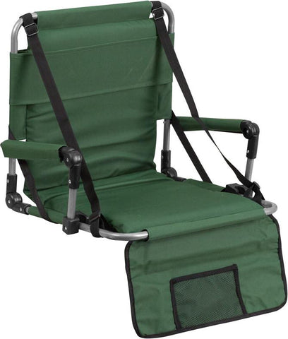 Flash Furniture TY2710-GN-GG Folding Stadium Chair in Green - Peazz Furniture