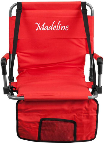 Flash Furniture TY2710-RED-EMB-GG Embroidered Folding Stadium Chair in Red - Peazz Furniture