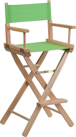 Flash Furniture TYD01-GN-GG Bar Height Directors Chair in Green - Peazz Furniture