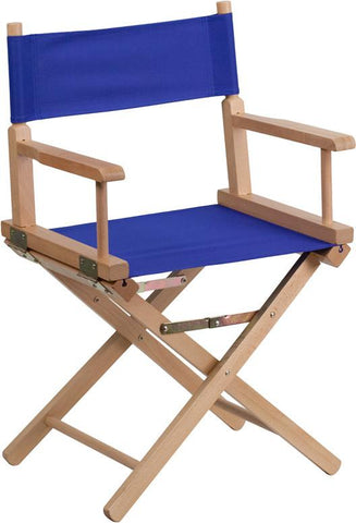 Flash Furniture TYD02-BL-GG Standard Height Directors Chair in Blue - Peazz Furniture