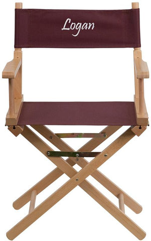 Flash Furniture TYD02-BN-TXTEMB-GG Personalized Standard Height Directors Chair in Brown - Peazz Furniture