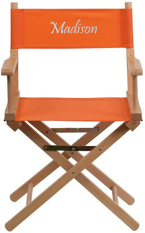 Flash Furniture TYD02-OR-EMB-GG Embroidered Standard Height Directors Chair in Orange - Peazz Furniture