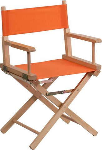 Flash Furniture TYD02-OR-GG Standard Height Directors Chair in Orange - Peazz Furniture