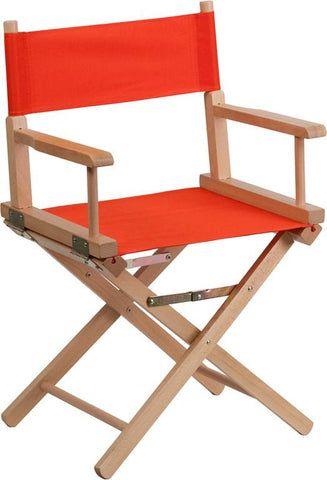 Flash Furniture TYD02-RD-GG Standard Height Directors Chair in Red - Peazz Furniture