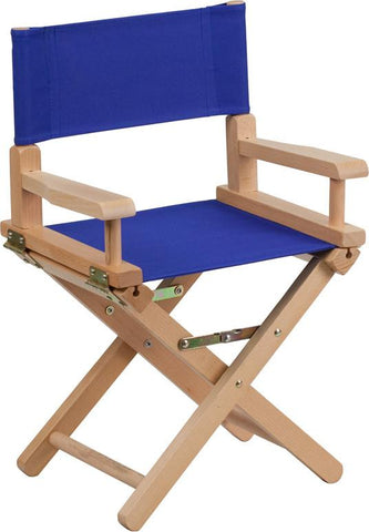 Flash Furniture TYD03-BL-GG Kid Size Directors Chair in Blue - Peazz Furniture