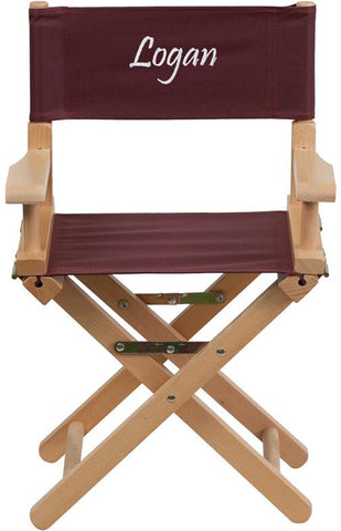 Flash Furniture TYD03-BN-EMB-GG Embroidered Kid Size Directors Chair in Brown - Peazz Furniture