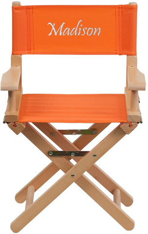Flash Furniture TYD03-OR-EMB-GG Embroidered Kid Size Directors Chair in Orange - Peazz Furniture