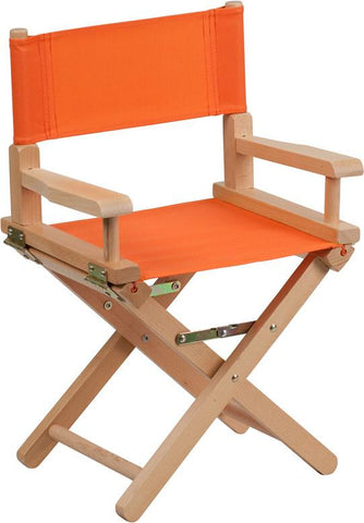Flash Furniture TYD03-OR-GG Kid Size Directors Chair in Orange - Peazz Furniture