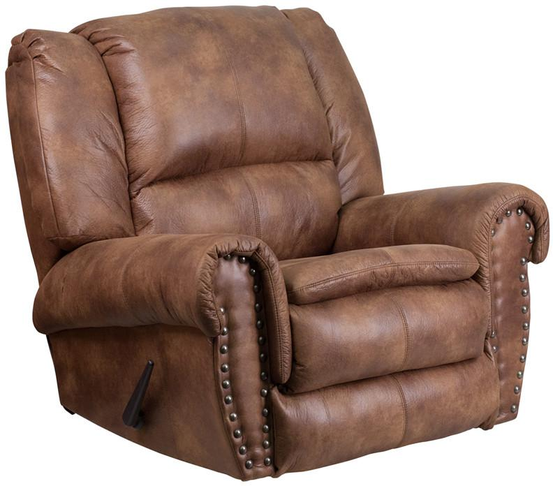 Breathable Comfort Padre Almond Fabric Rocker Recliner 16509 Product Photo