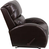 Flash Furniture WA-4990-620-GG Contemporary Ty Brown Leather Rocker Recliner - Peazz Furniture - 2