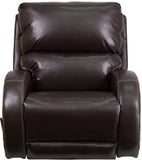Flash Furniture WA-4990-620-GG Contemporary Ty Brown Leather Rocker Recliner - Peazz Furniture - 4